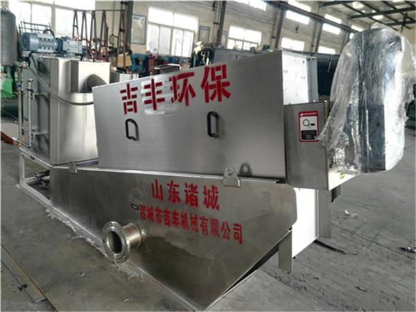 叠螺污泥脱水机设备运行流程