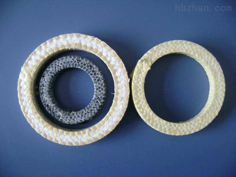 芳纶浸四氟液盘根环长期供应、黄芳纶盘根