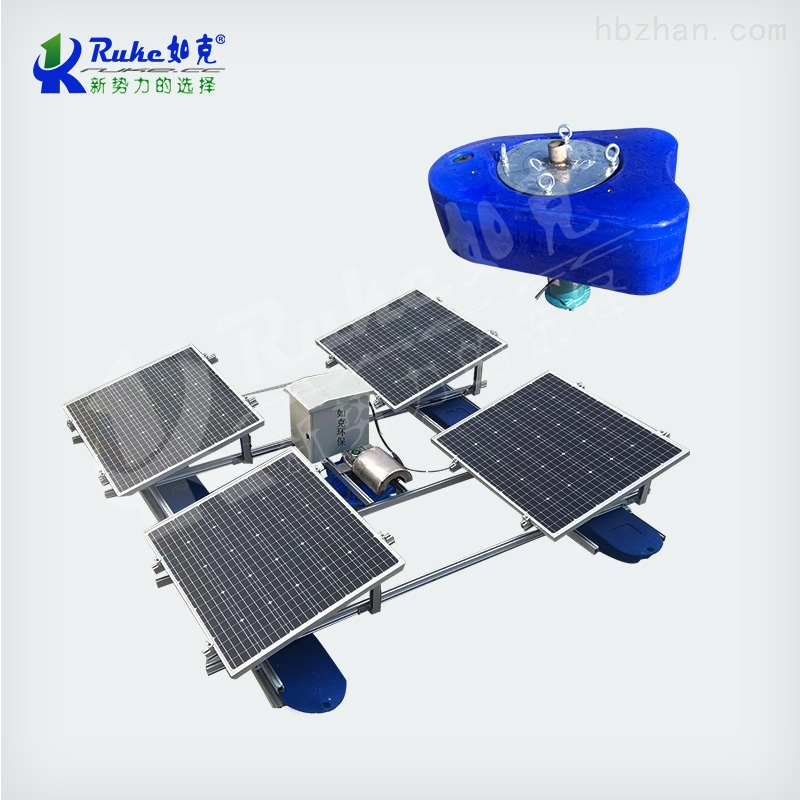 RSUN0.75-PQ太阳能喷泉曝气器 涌泉式曝气机设备