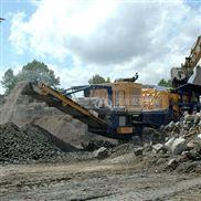 履带式建筑垃圾破碎机,实现资源化就地处理