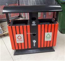 户外带盖防雨水垃圾桶 自然山水景区垃圾箱