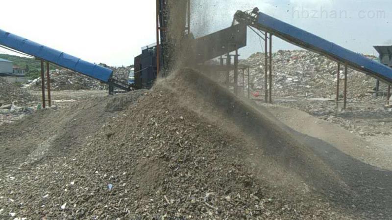 日处理500吨建筑垃圾筛分生产线交满意答卷