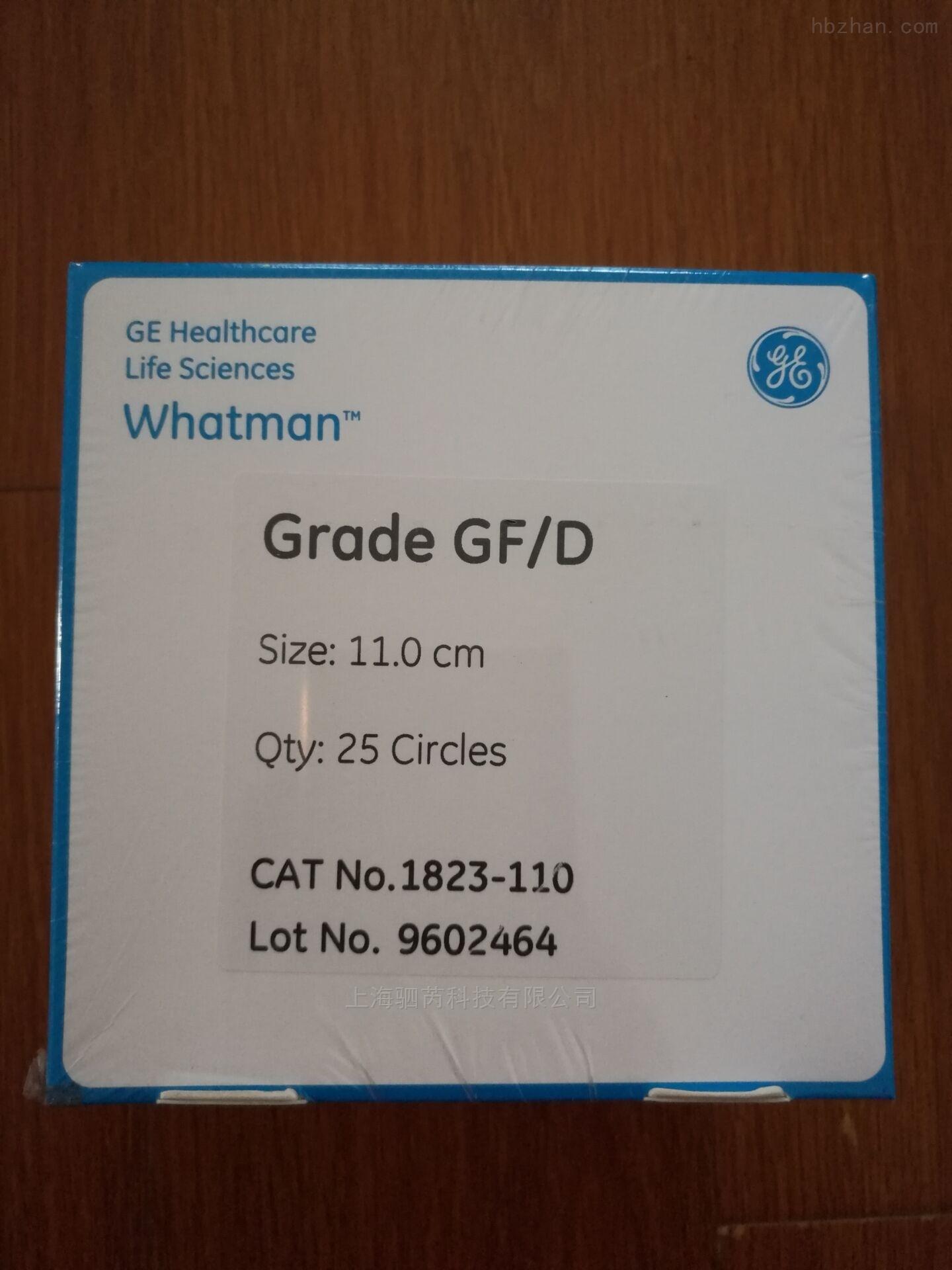 whatmanGF/D玻璃纤维滤纸滤膜1823-110