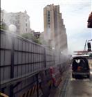 四川綿陽建筑工地圍欄圍墻噴淋噴霧系統