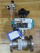 氣動不鏽鋼法蘭球閥SMQ641F-16P