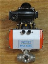 气动不锈钢三通丝接球阀SMQ614F-16P