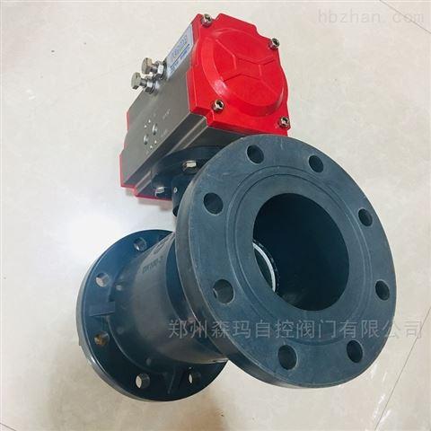 气动法兰塑料球阀SMQ641S-10S