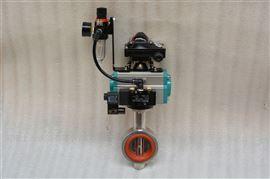 D671X气动卫生级不锈钢蝶阀