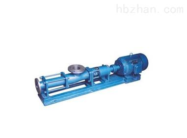 G型螺杆泥浆泵