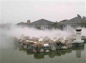 深圳南山假山水池人造雾系统设备