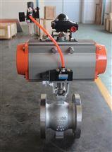 VQ647H-16P DN200气动法兰V型调节球阀