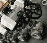 Q6S41F46气动带手轮不锈钢衬氟球阀