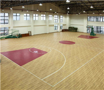 永胜县羽毛球馆地面用运动木地板包安装