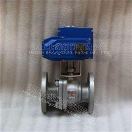 Q941H-16C电动法兰铸钢球阀