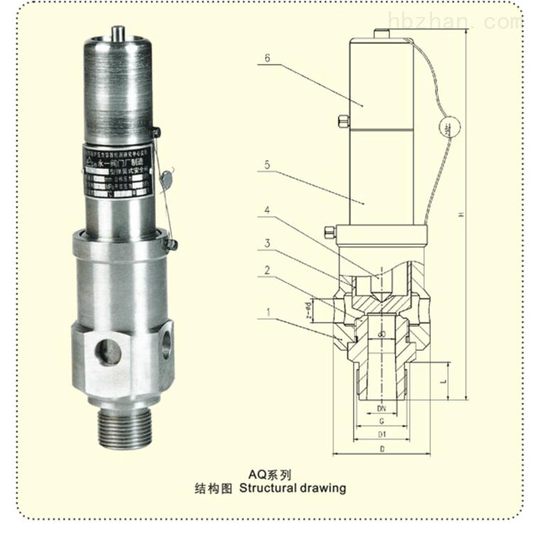 空压机专用安全阀