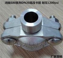 316不锈钢0.75寸 DN20 高压拷贝林卡箍