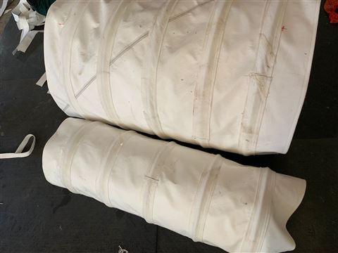 伸缩式帆布除尘水泥布袋
