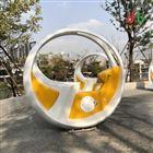 江门景区公园自行车互动喷泉