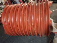 耐磨防火红色硅胶布阻燃软连接
