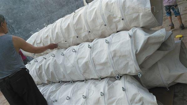 水泥卸料耐用帆布伸缩布袋 常年生产