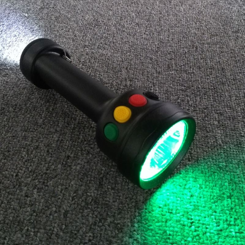 LED多功能信号手电红黄白检修工作灯  山东