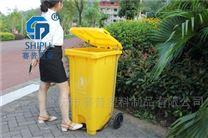 120L户外环卫脚踏塑料垃圾桶图片价格