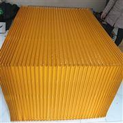 黄色防尘布升降平台风琴防护罩
