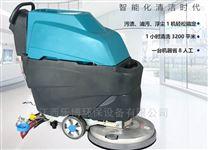 江西瓷砖地面清洗用电瓶式洗地机