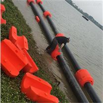 管径375清淤夹水管环保浮筒