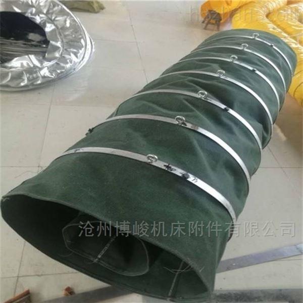 环保通用耐腐蚀帆布伸缩布袋价格