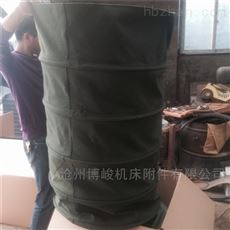 砂石料输送机卸料防尘帆布伸缩布袋