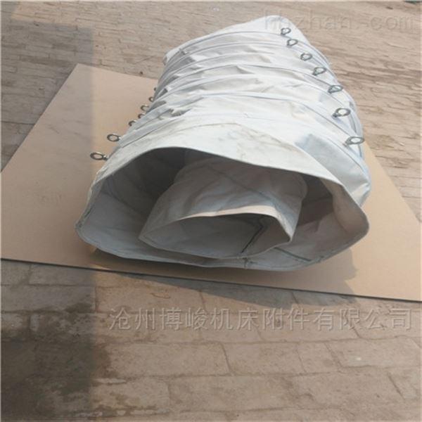 定做灰色加厚帆布卸料耐磨布袋厂家