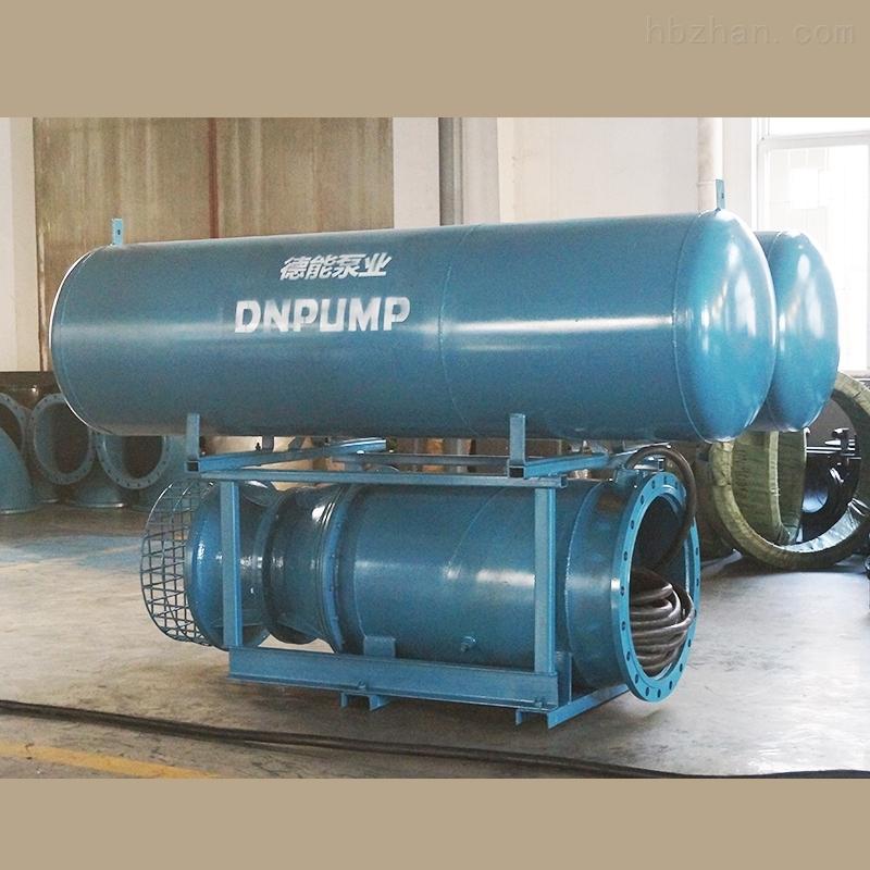 中吸型浮筒式铸铁潜水轴流泵