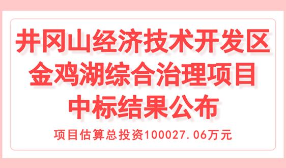 10億,井岡山經濟開發區金雞湖綜合治理項目中標