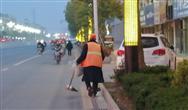 江苏省滨海县城管局立体保洁出新城市形象