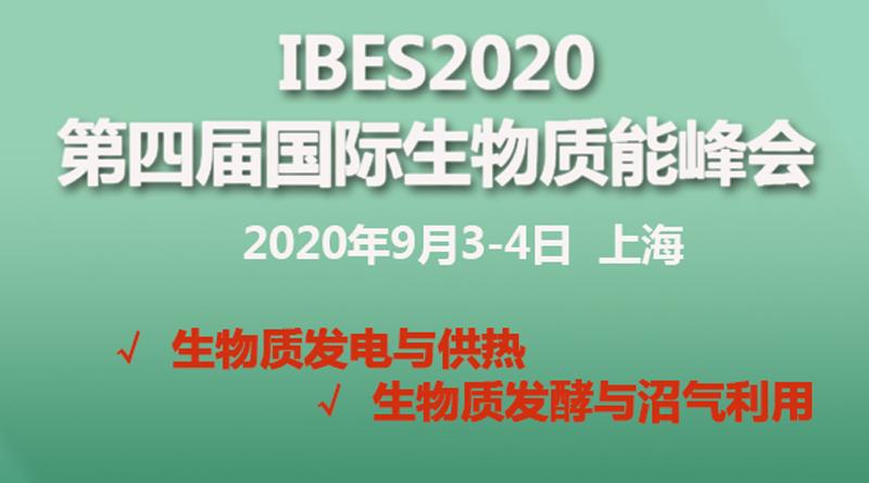 2020第四届国际生物质能峰会(IBES2020)