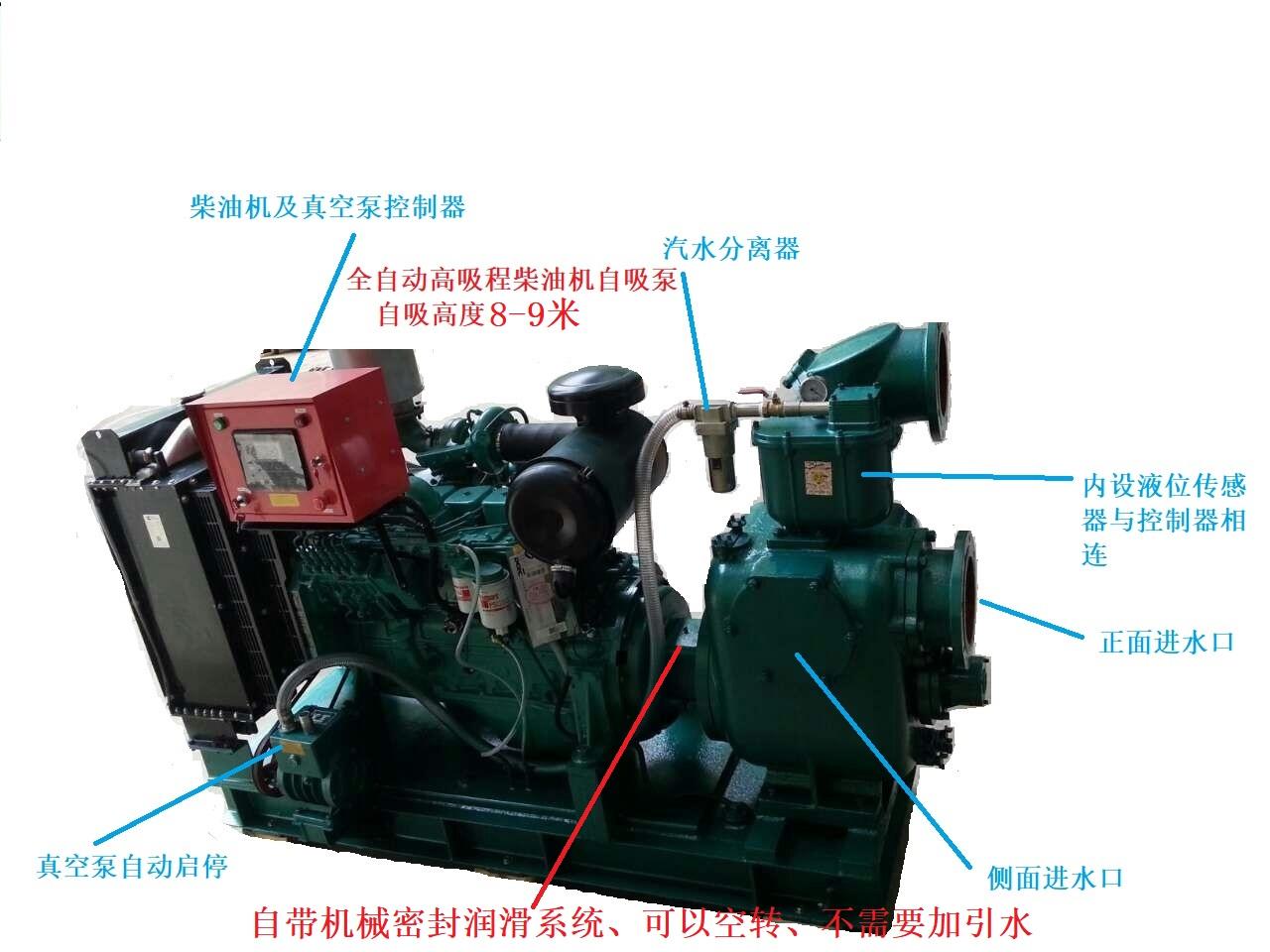 真空辅助柴油机水泵