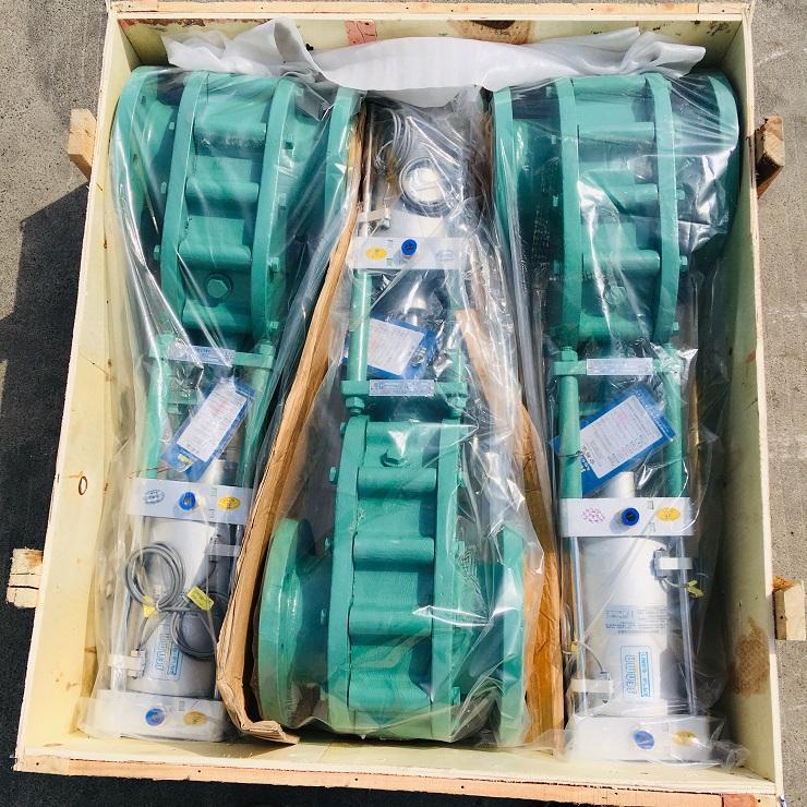 氣動耐磨陶瓷雙閘板閥SMZ644TC