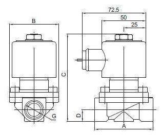 2W电磁阀结构图