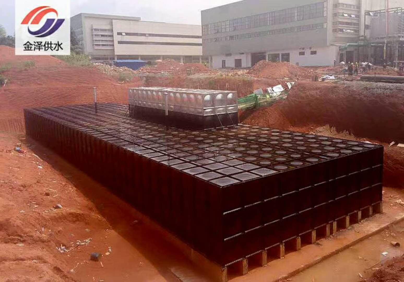 淮安地埋式箱泵一体化28x16x3=1344立方顺利发货已进场施工
