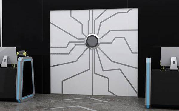 掌纹玻璃门