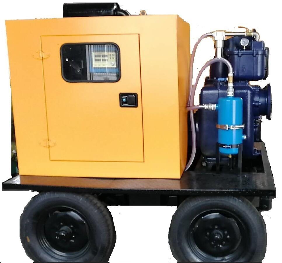 4轮牵引式移动泵车