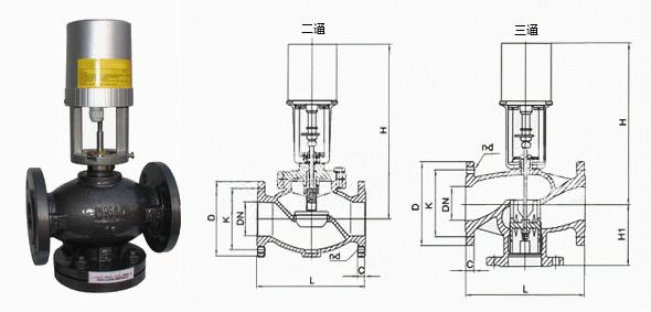 智能型电动二通阀结构图