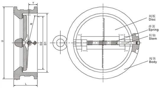 不锈钢单瓣式对夹止回阀结构图1.jpg