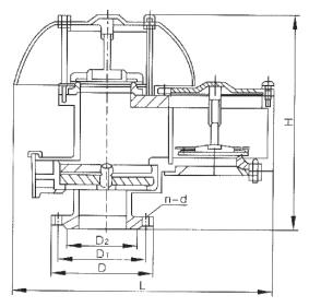 QZF-89全天候防火呼吸阀图