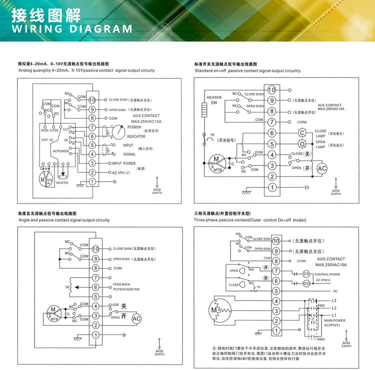 电动执行器接线图
