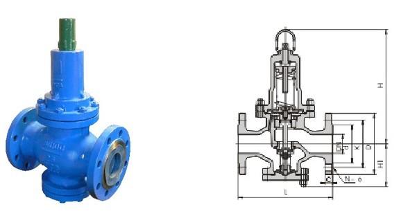 Y42X弹簧薄膜式减压阀图