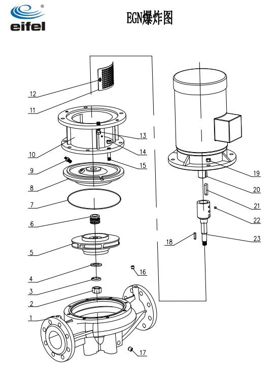 管道泵结构图